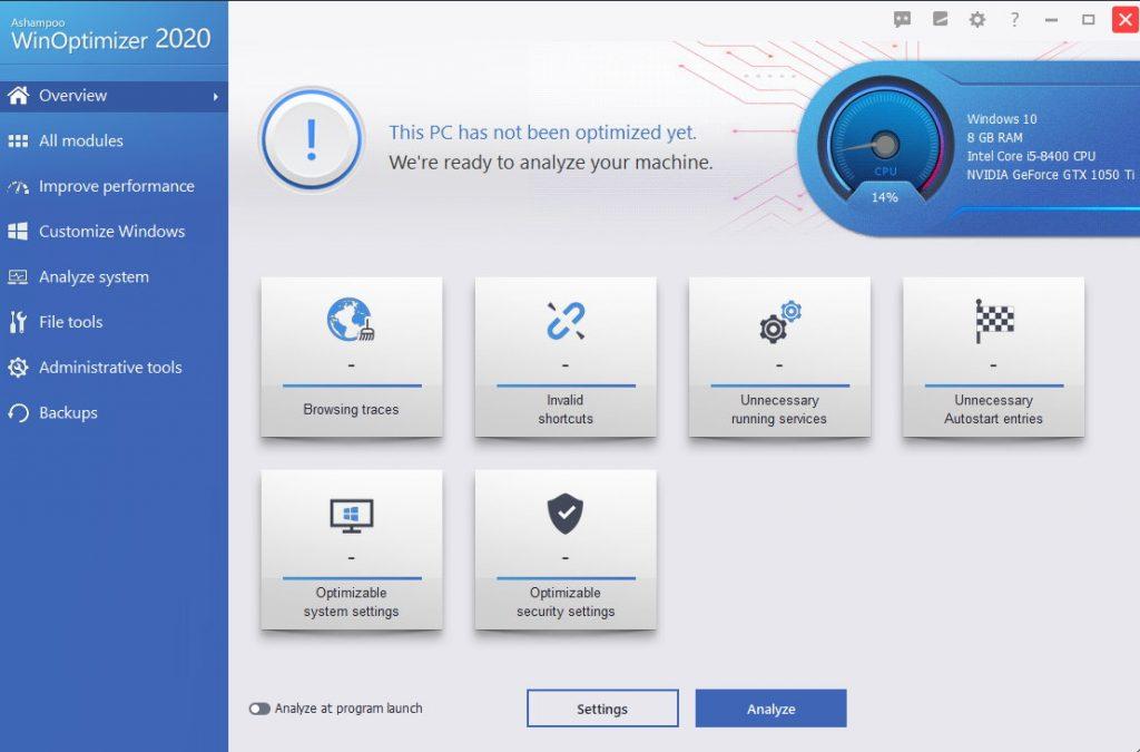 Ashampoo WinOptimizer 18.00.16 Crack Plus License Key Latest